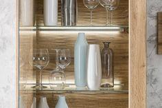 STROMBERG - Obývačková zostava, vyhotovenie: Dub wotan Bathroom Medicine Cabinet, Kitchen, Home, Cooking, Kitchens, Ad Home, Homes, Cuisine, Haus