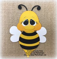 Items similar to Spring Bee Premade Scrapbooking Embellishment Paper Piecing Card on Etsy Bee Crafts, Crafts For Kids, Paper Crafts, Paper Piecing, Scrapbook Embellishments, Treasure Boxes, Tole Painting, Punch Art, Cello
