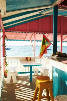 Beach bar at Carriacou's La Playa, the Grenadines.
