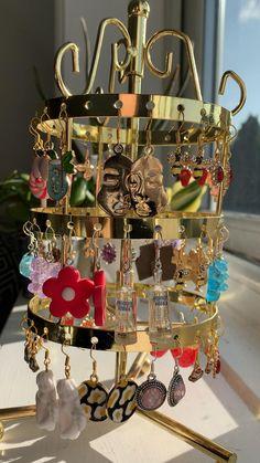 Weird Jewelry, Funky Jewelry, Hippie Jewelry, Cute Jewelry, Diy Jewelry, Jewelery, Jewelry Accessories, Angel Earrings, Funky Earrings