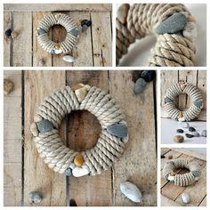 Tengerész kopogtató DIY | Masni, Summer Ahoi, summer door wreath DIY by Masni Decoration
