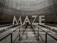 Maze: An Addition to Futura by Peter de Guzman, via Behance