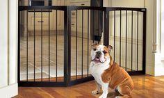 Animal Planet Foldable Wooden Pet Gate | Groupon