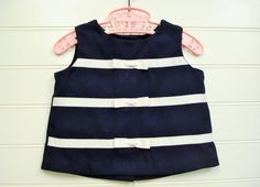 Vintage Baby Clothes, Baby Girl 2 Piece set in Navy Blue, Baby Girl Top and Capris Size 18 Months, Nautical Themed Baby Clothes. on Etsy, $17.00