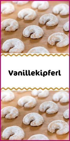 Vanillekipferl - New Ideas Sweet Recipes, Cake Recipes, Dessert Sauces, Desserts, Vanilla Biscuits, Vanilla Sugar, Christmas Cookies, Almond, Food And Drink