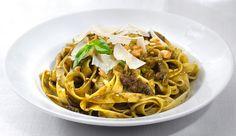 Fettuccini al Pesto + receta