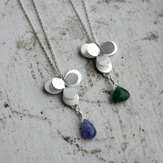 Small Desert Flower Necklaces by Moira K. Lime