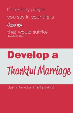 Develop a Thankful Marriage