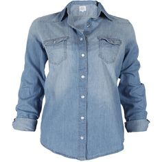 Cielo Jeans Denim Shirt ($73) ❤ liked on Polyvore