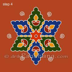 This page provides Dot Rangoli Designs with title Dot Rangoli 2 for Hindu festivals. Free Hand Rangoli Design, Rangoli Border Designs, Small Rangoli Design, Rangoli Designs Images, Rangoli Designs With Dots, Rangoli With Dots, Beautiful Rangoli Designs, Simple Rangoli, Rangoli Ideas