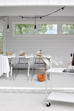 Hege in France - Terrace Furniture, Interior, Home, Backyard Inspiration, Living Room Windows, Scandinavian Garden, Beautiful Outdoor Spaces, Home And Living, Nordic Decor