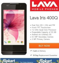 Online #Lava #Iris 400Q Phone Shopping @ http://www.couponpedia.in/buy-lava-iris-400q-online-lava-iris-400q-phone-shopping/