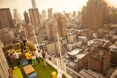 Check out this awesome rooftop pub called Mondrian SoHo in New York City!