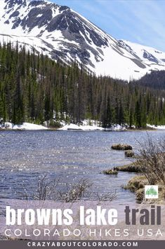 Browns Lake Trail is a complete surprise! Want to push yourself a bit farther in your day hike? This is the hike for you. Amazing waterfall and stunning lake. Snowshoe, Rafting, Snowboard, Hiking Usa, Front Range, Alpine Lake, Canada Travel, Usa Travel, Family Day