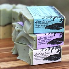 Old Factory Limited Edition Organic Soap Spring Scent Plantable Label Olive Oil Soap, Seed Paper, Wildflower Seeds, Organic Soap, Soap Recipes, Pure Essential Oils, Tea Tree, Organic Recipes, Soap Company