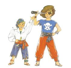 Pirate Costume for Kids Pattern Burda 5489 Multiple Sizes Burda Patterns, Costume Patterns, Kids Patterns, Pirate Costume Kids, Sash Belts, Body Size, Vintage Costumes, Pirates, Applique