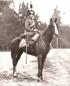 Queen Victoria Eugenie of Spain (1887-1969) on horseback
