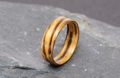 The custom made zebrano ring is finely handcrafted for you using the bentwood technique that respects the nature of the wood by working with the grain rather than against it. This ensures a beautiful yet durable one-of-a-kind ring suited to gifting and special occasions. Each ring I create is unique, so are ideal as alternative wedding or engagement rings.    Zebrano is imported from Central Africa and was once used in Cadillac and Mercedes-Benz automobiles!    I welcome custom orders…