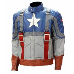 Captain America The First Avengers Movie Cosplay Leather Jacket Mens - S / Faux Leather