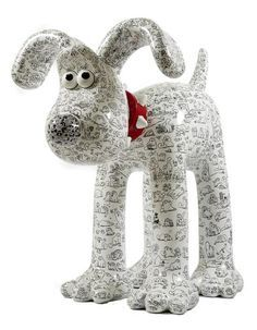 Simon's Cat - Want to own 'Doodles'? A giant Gromit with Simon's cat doodles? Paper Mache Projects, Paper Mache Clay, Paper Mache Sculpture, Paper Mache Crafts, Dog Sculpture, Animal Sculptures, Art Projects, Paper Mache Animals, Simons Cat