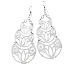 Lovely Lotus Earrings - The Breast Cancer Site