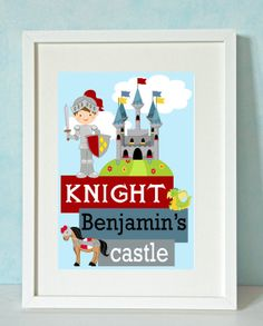Superb Knight in Shining Armour Personalised Unique by RockMapleSugar