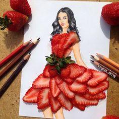Strawberry dress by Edgar Artis