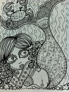 The Chubby Mermaid Coloring Book Fun For All Ages Be ArTiST Mermaids Sea Life Ocean Beach Adult Whimsical Markers Gel Pens