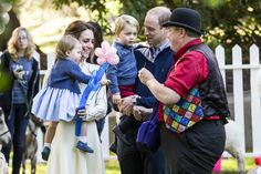 Duke and Duchess with George and Charlotte at fun party in canada
