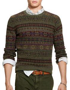 Brands   Sweaters   Fair Isle Wool-Blend Sweater   Hudson's Bay