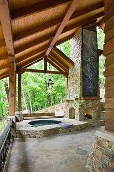 Outdoor fireplace  #HomeandGarden