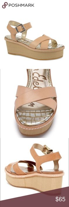 8c5f019b300ac Sam Edelman Flatform Wedge Sandals A comely woven checker wedge elevates a  stylish spring ready sandal