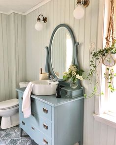 Nordic Style, Scandinavian Style, Bathroom Interior Design, My Dream Home, Paint Colors, Vanity, Cabinet, Furniture, Bathrooms