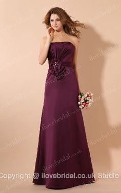Empire Waist Burgundy #Bridesmaid #Dress