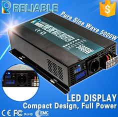 429.30$  Buy now - http://alijxk.worldwells.pw/go.php?t=32754521556 - 10000W Peak 5000w Off Grid LED Display Pure Sine Inverter With Remote Controller DC AC Converter Transformer Battery Converter
