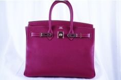 Hermes Tosca Epsom & Rose Tyrien Candy Collection 35cm Birkin Bag - Limited Edition $22,000