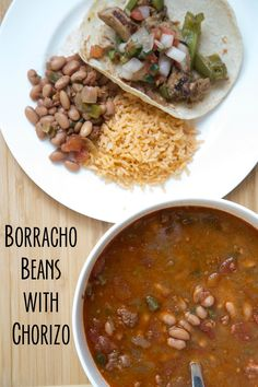 Slow Cooker recipe for Borracho Beans with Chorizo on 5DollarDinners.com