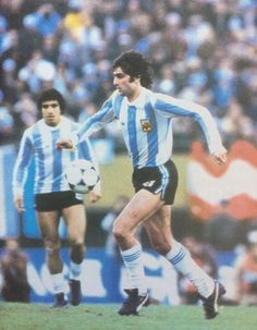Mario Kempes of Argentina in action at the 1978 World Cup Finals.