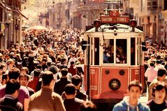 Taksim Square, Istanbul, Turkey I worked there almost 1 year just a few streets away! After a long work day, finding yourself in the crowd and feeling the sense of 'I've lived one more day from my life'.