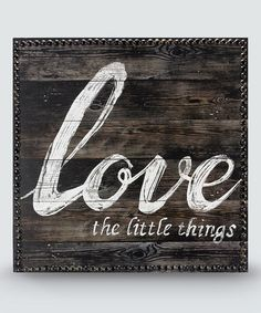 Another great find on #zulily! 'Love' Wood Wall Sign #zulilyfinds