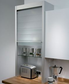 Hafele glass tambour unit - for housing small appliances
