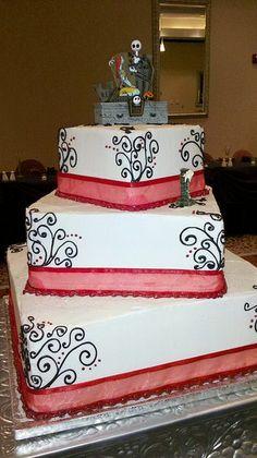 nightmare before christmas wedding cake | Flickr - Photo Sharing!