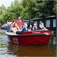 Balade en chaloupe sur les canaux d'Amsterdam à Amsterdam (NL)