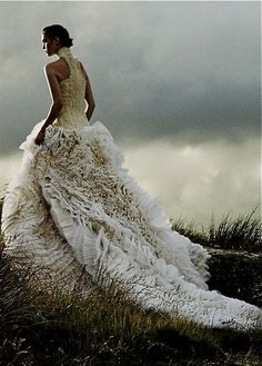 Moody and dramatic - possibly not the way a bride would want to be portrayed.