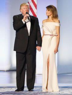 Melania Trump – Donald Trumps Inauguration 2016, Designer: Hervé Pierre, ehemaliger Kreativdirektor des Labels Carolina Herrera (Bild: Getty Images)