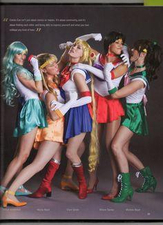 Team Unicorn cosplaying Sailor Moon