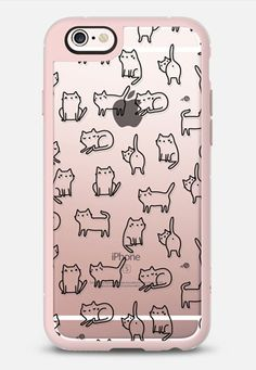 Casetify iPhone 7 Case and Other iPhone Covers - Funny kitty cats. Doodle kittens. Adorable animals by Anna Alekseeva #kostolom3000 | #Casetify