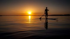 https://flic.kr/p/vpve2y | SUP at twilight on Sanguinet's lake - Landes - France | Stand up paddle sur le lac de Sanguinet au crépuscule.