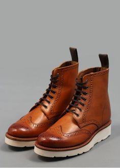 Grenson Emma Leather Derby Boots Tan | Triads