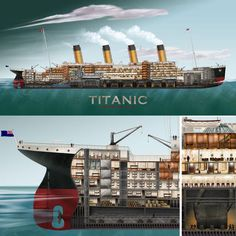Accurate and modern re-draw of the cross section of the Titanic